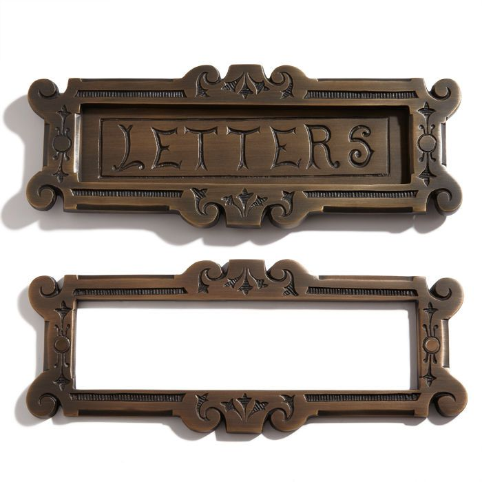 """Fairytale Solid Brass """"Letters"""" Mail Slot - Antique Brass #WhittingtonCollection"""