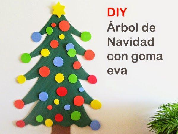 C mo hacer un rbol de navidad con goma eva navidad and - Como hacer un arbol de navidad ...