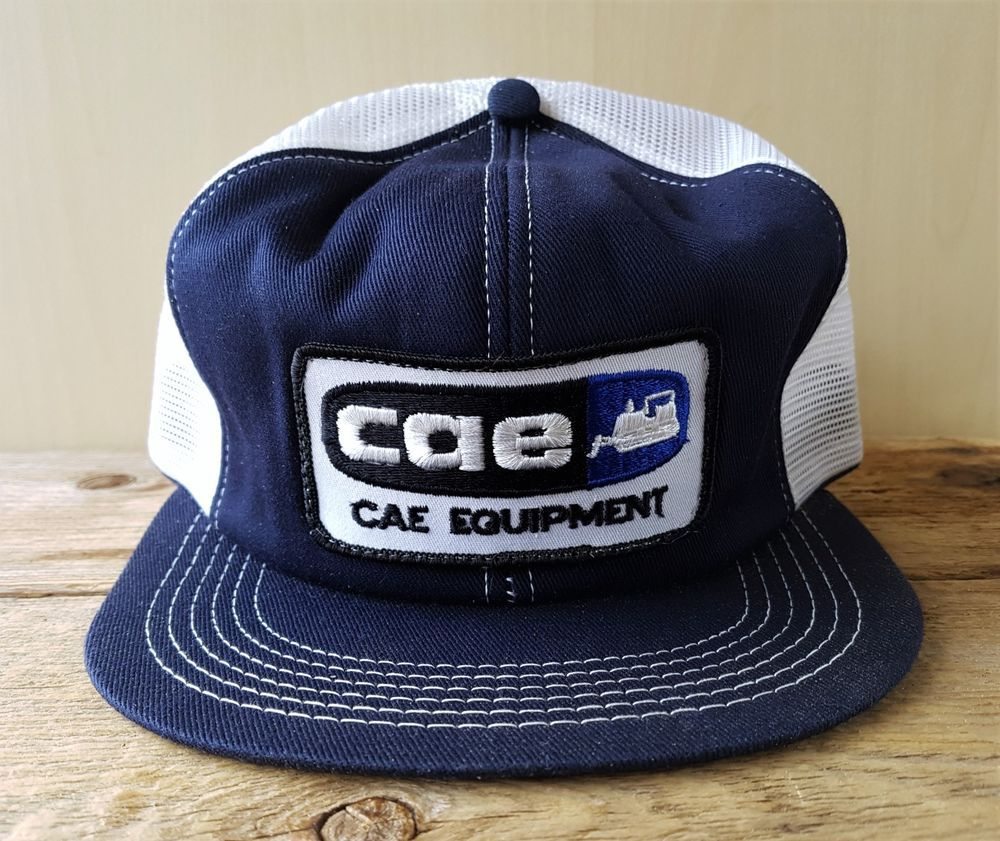 8e0fff8a3f0 Vintage 80s CAE EQUIPMENT Farming Mesh Trucker Hat Snapback Baseball Cap K  Brand  BaseballCap