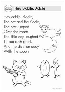 reading comprehension nursery rhymes