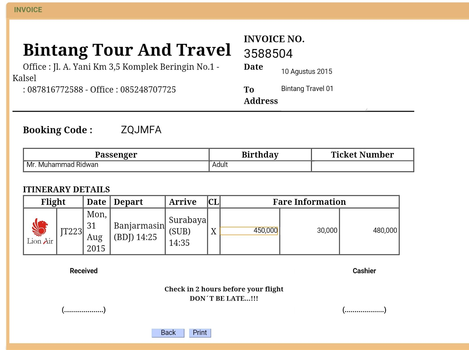 Receipt Of Tour And Travels Https Simpleinvoice17 Net Receipt Of Tour And Travels In 2021 Create A Company Invoice Template Word Microsoft Word Invoice Template