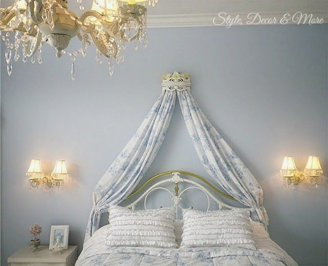 Style Decor More My No Sew Project A Canopy Bed Crown Easy - Canopy idea bed crown