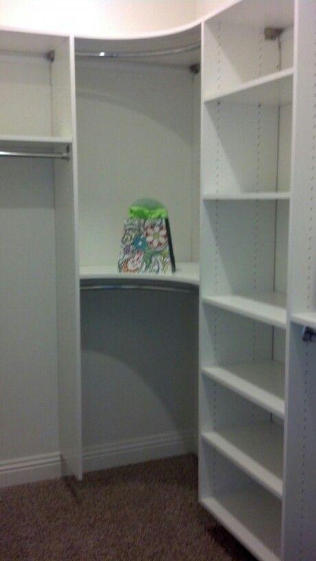 Curved Rods For Closet Closet Designs Corner Closet Shelves Closet Layout