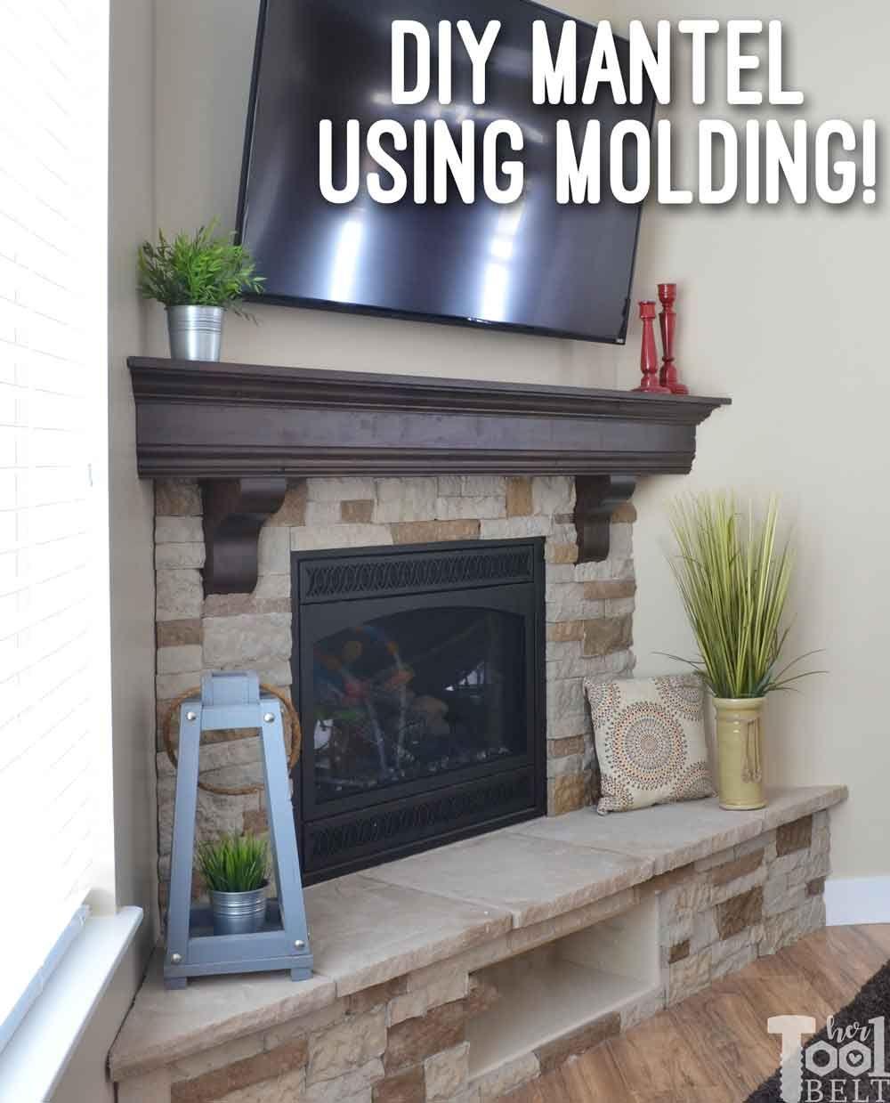 diy fireplace mantel shelf | a complete reno | pinterest | diy