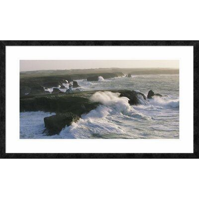 Global Gallery Custom framed museum quality digital reproduction. Published on archival premium matte paper. Frame in ebony small. Bright white on bright white and acrylic glazing. Size: 26