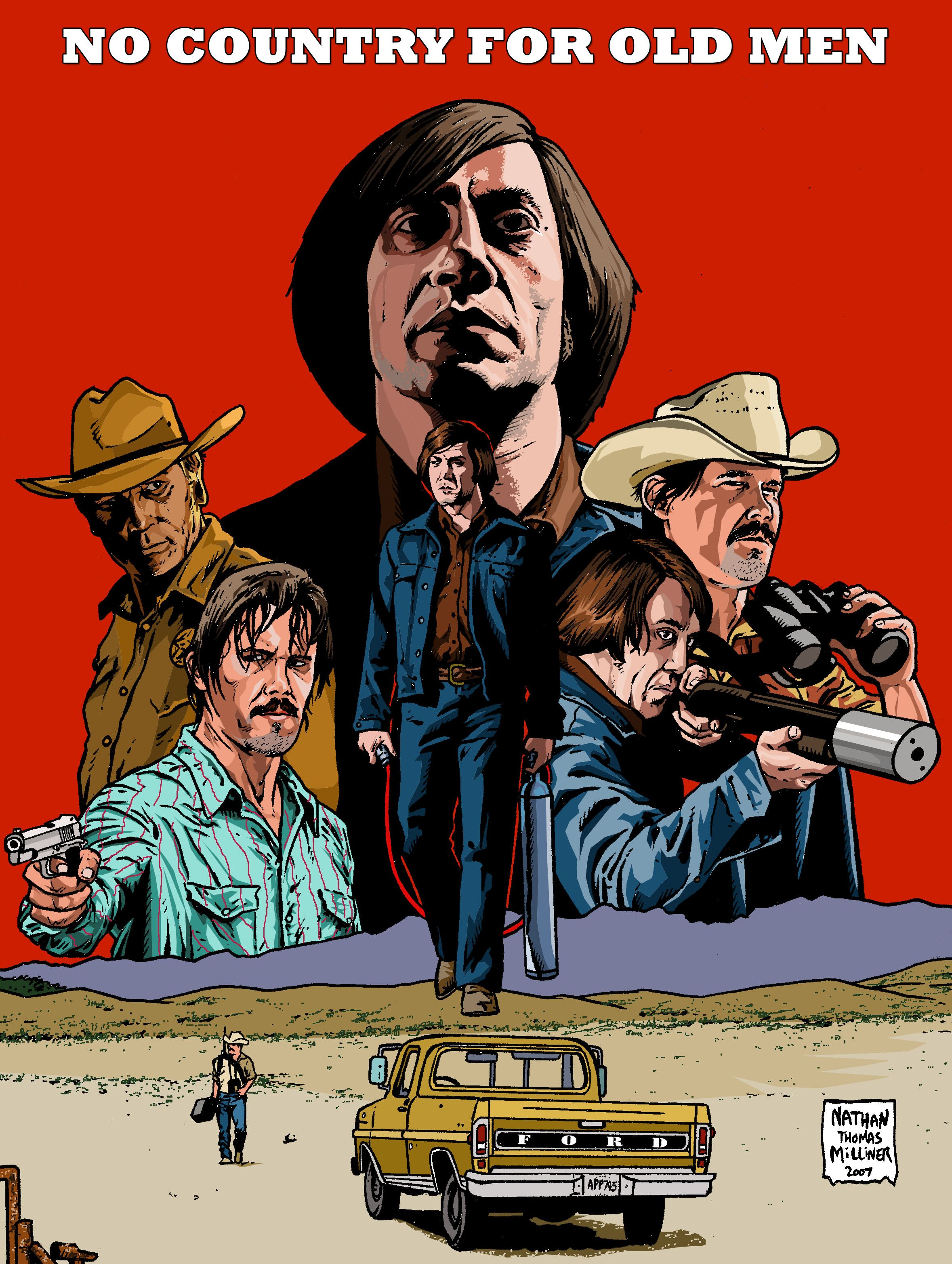 This is a film made by Joel and Ethan Coen. It was released in 2007, starring Javier Bardem and Tommy Lee Jones. I loved this movie. The Coen brothers have a particular way to tell stories. Their movies have a lot of images and few dialogue. Even though, the movie is a bit slow, it is created in an atmosphere of suspense that  pushes the spectator to be totally submerged in the story. Worth watching! :)