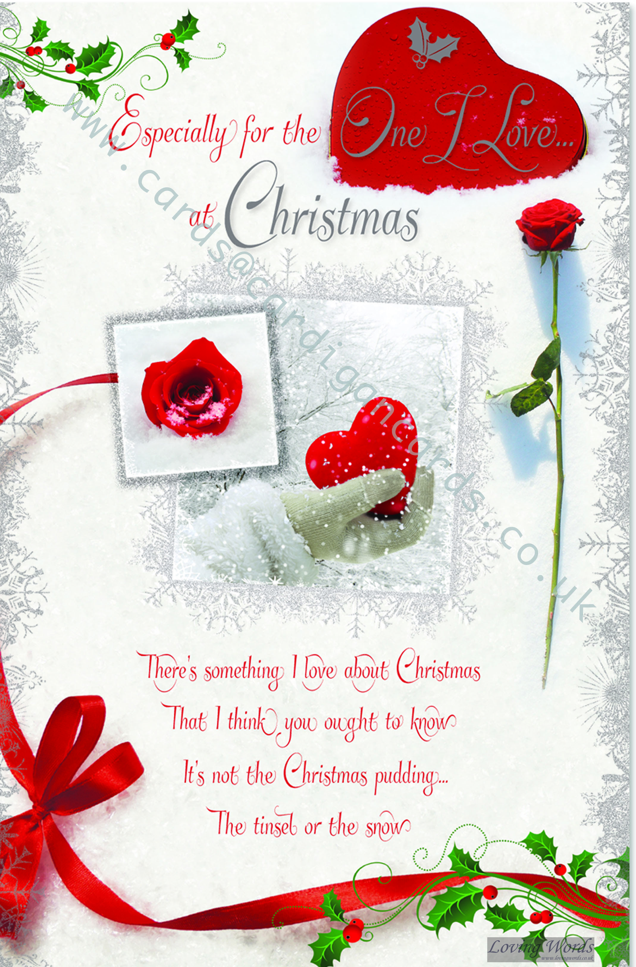One i love at christmas large card with loving words www one i love at christmas large card with loving words lovingwords kristyandbryce Images