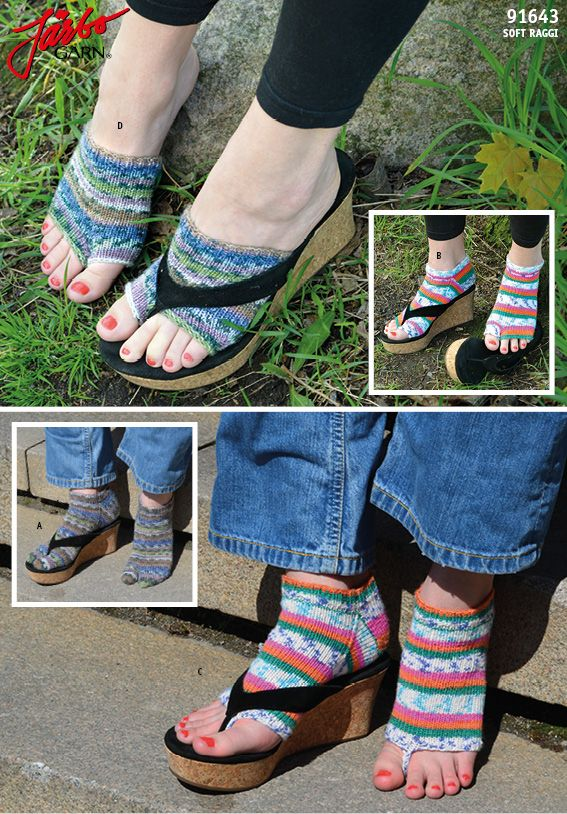 e85ad43f92a27d Flip Flop-socks – Free pattern on our website. More