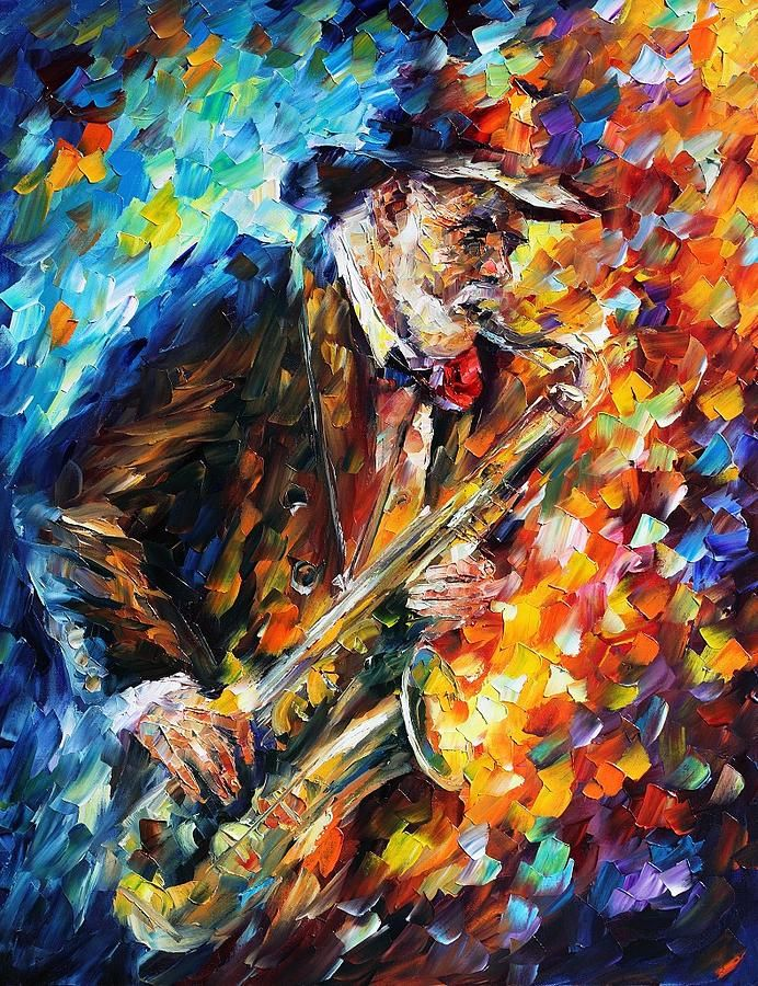 Saxophonist By Leonid Afremov In 2020 Saxophone Art Music Painting Music Wall Art