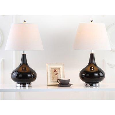 "Brayden Studio Maughan 24"" Table Lamp Set Finish: Black"