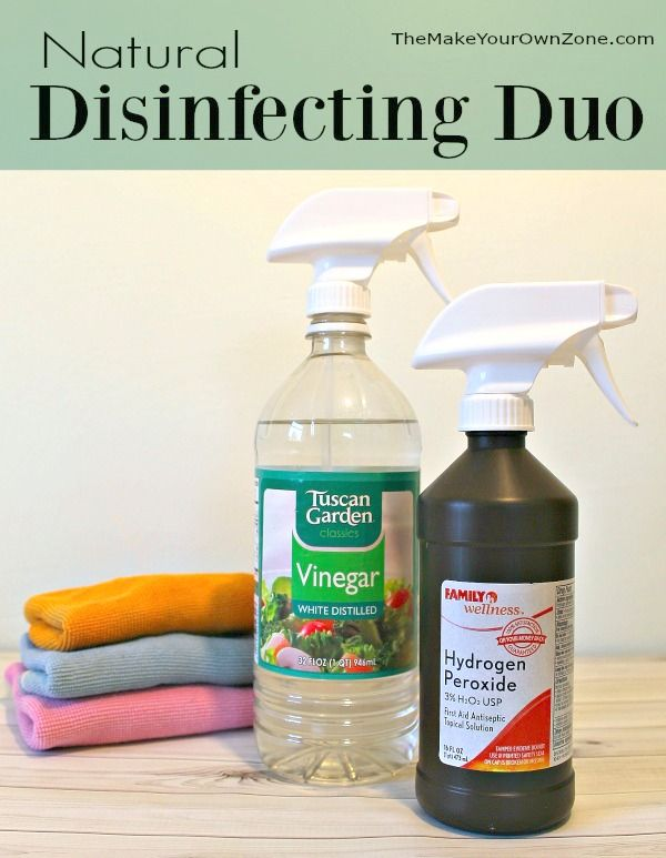Natural Disinfecting With Vinegar And Hydrogen Peroxide Cleaning