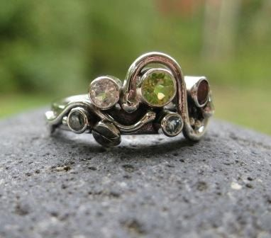 Unique Mothers Ring 4 Or 5 Birthstones Set In By Bddesigns 269 00