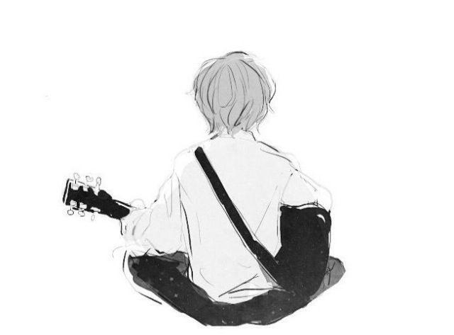 Anime Boy With Guitar Seniman Ilustrasi Karakter Ilustrasi