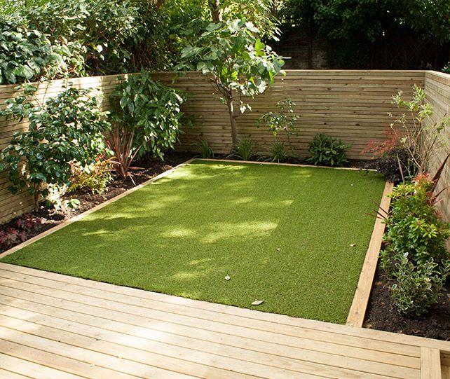 Image result for low maintenance small back garden design