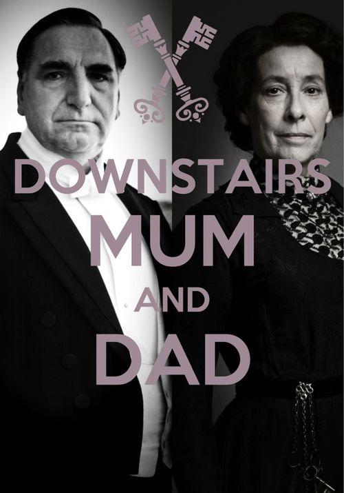 Downton Downstairs Mrs Hughes & Carson?