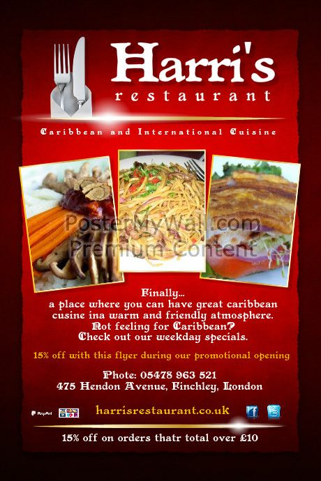 create amazing flyers for your restaurant or cafe by customizing our
