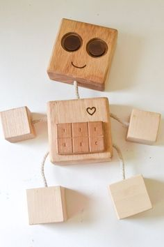 DIY Wooden Robot Buddy If You Want To Make A Simple Toy With Minimum Of Tools Or Are Looking For The First Woodworking Lesson Older Kids