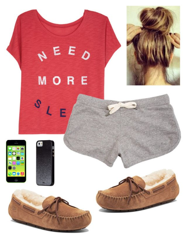 """""""Goodnight everybody :) ~Riam"""" by imaginegirl1d5sos ❤ liked on Polyvore featuring dELiA*s, UGG Australia and Case-Mate"""