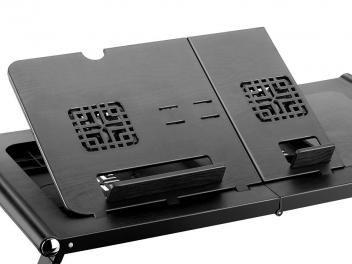 Mesa para Notebook com Cooler Duplo Dobrável - Com Mousepad Acoplado Multilaser…