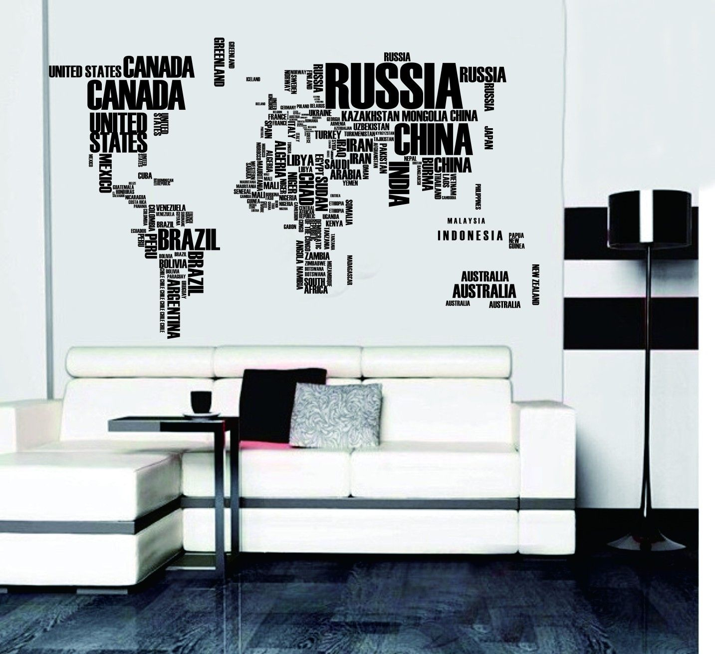 World map in words removable vinyl quote wall decal livingdining world map in words removable vinyl quote wall decal gumiabroncs Image collections