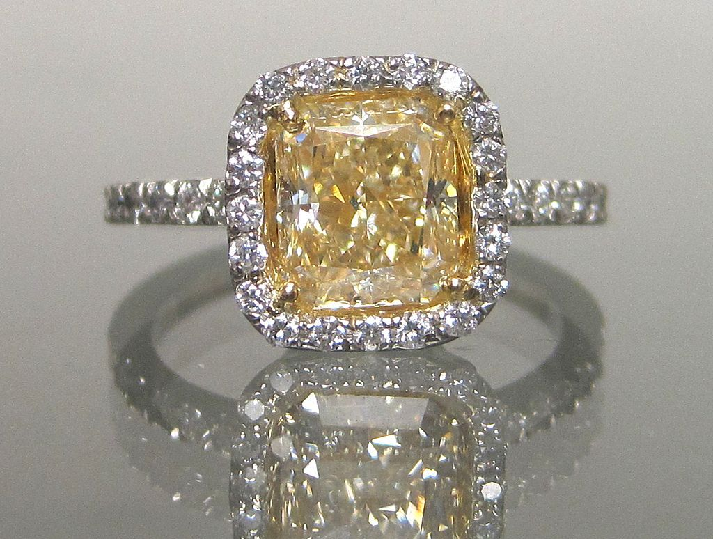 white picture ring canary stackable wedding rings of yellow diamond