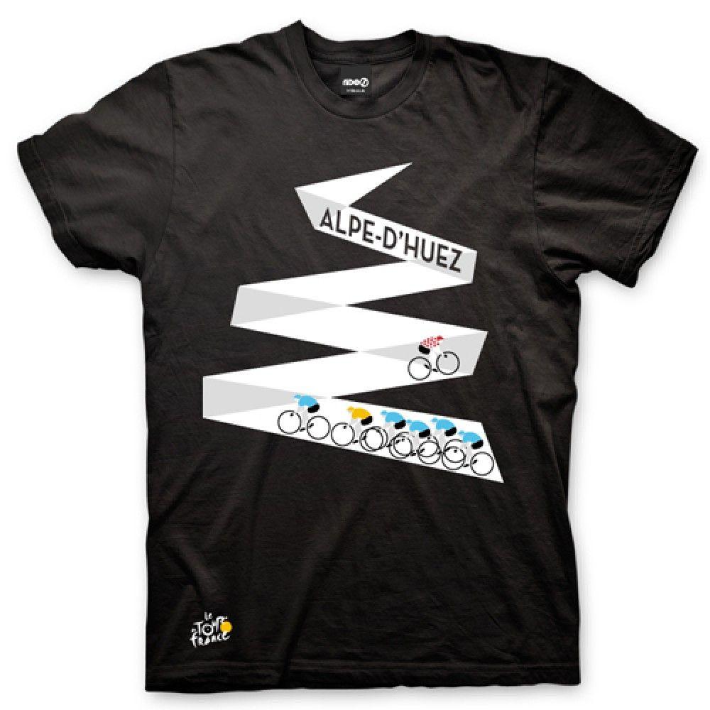 Cycling Art T-Shirt - Alpe d'Huez 4w4aXNIR