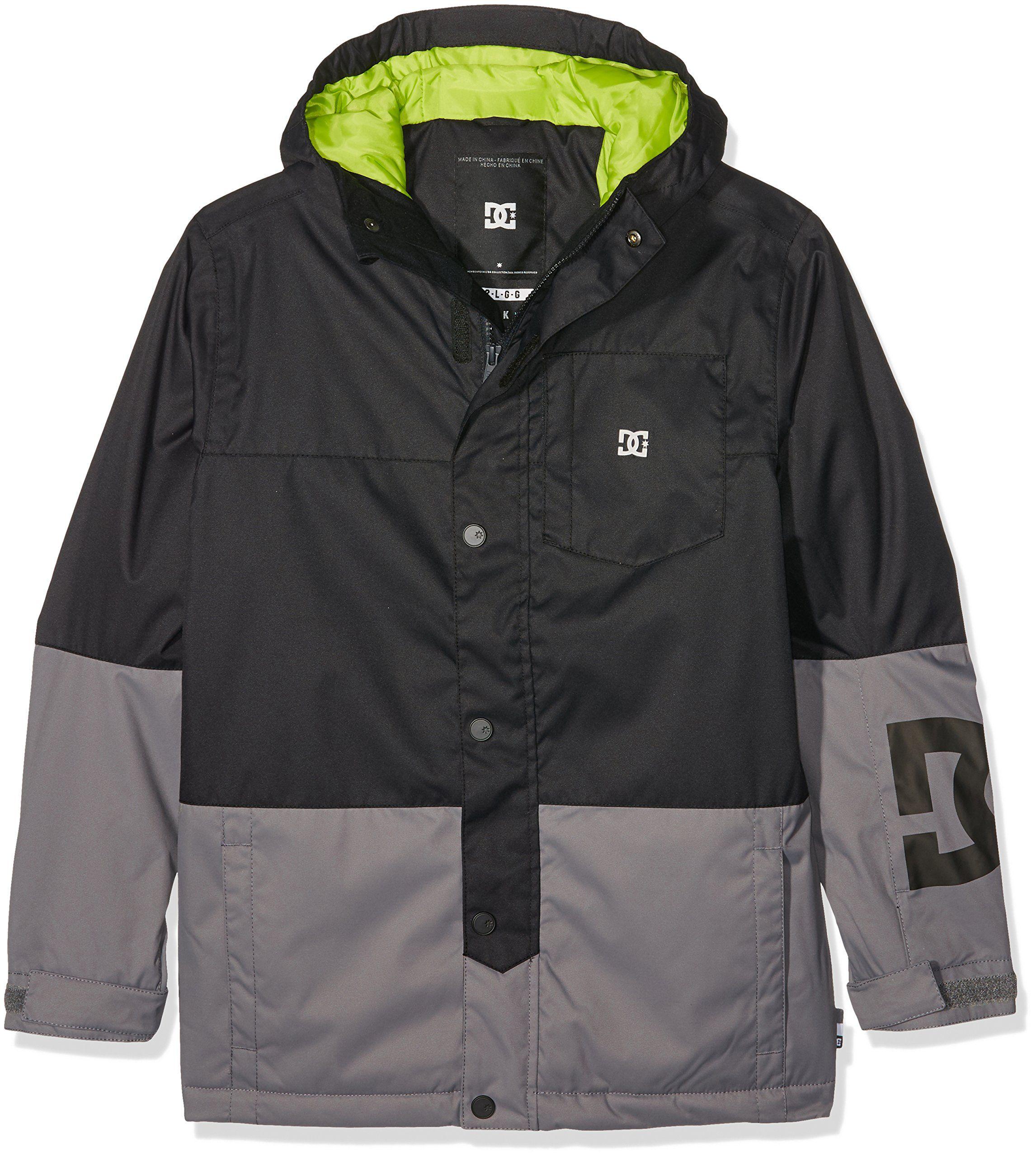 14490cc49cae DC Snow Jackets - DC Defy Youth Snow Jacket - Black. Boy Snow Jackets.