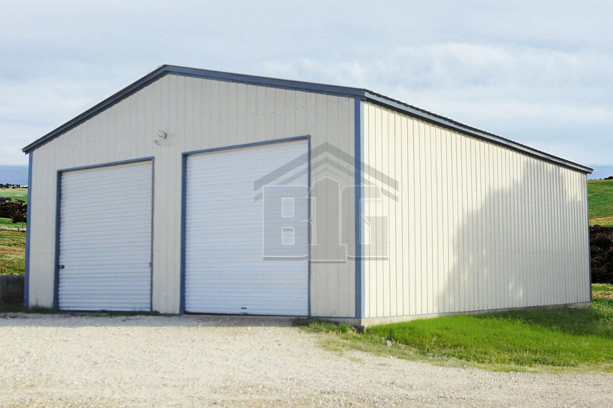 The Echo 26x35x12 Big Buildings Direct Garage Door Framing Metal Garage Buildings Garage Doors