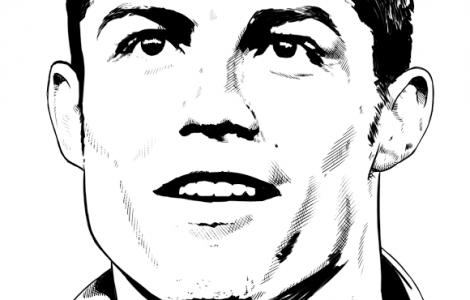 C.Ronaldo Coloring page HD Wallpaper