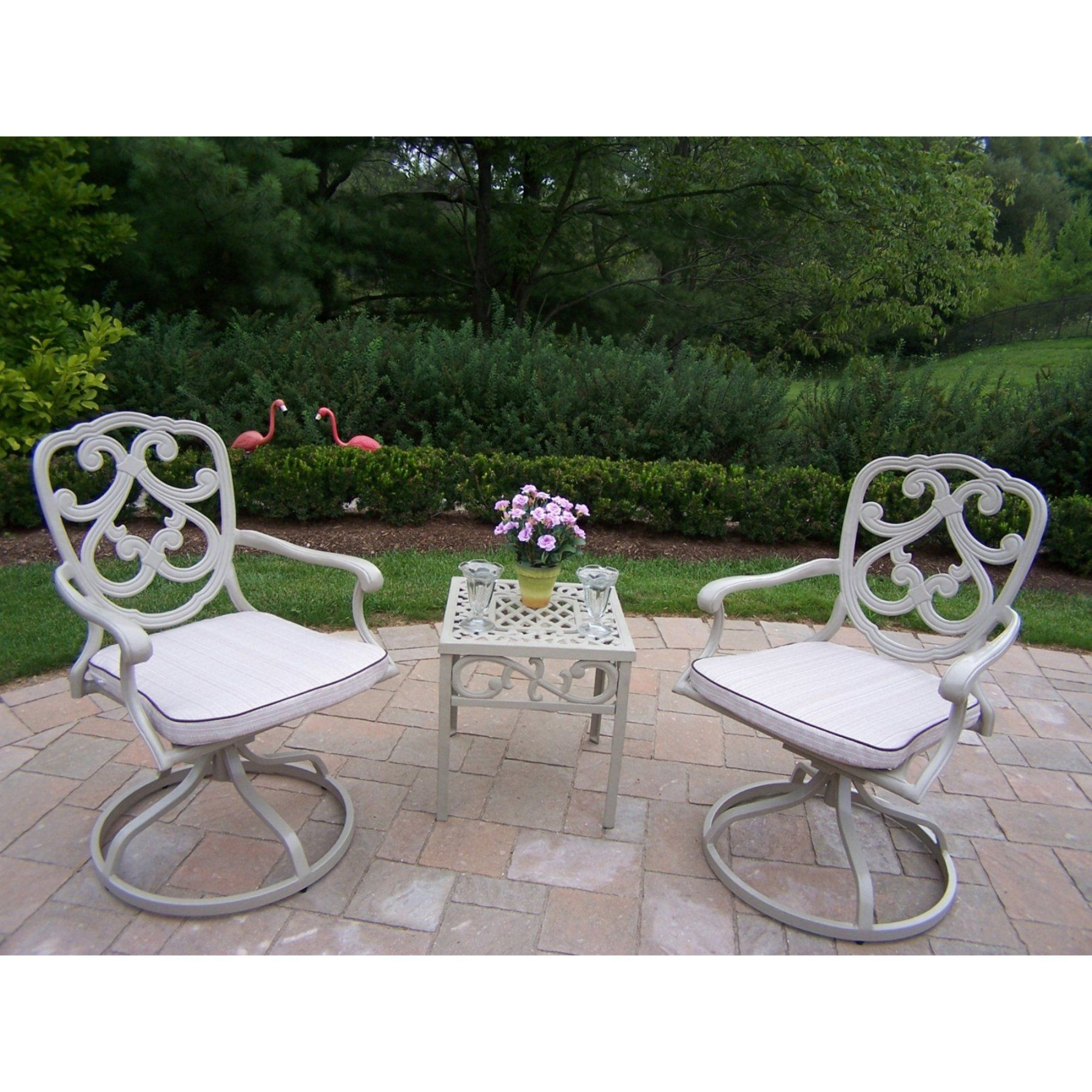 Outdoor Oakland Living Pacifica Cast Aluminum Swivel ... on Oakland Living Patio Sets id=99743