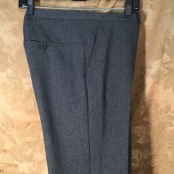 Super Nice, classy slacks, office or evening. Charcoal with subtle hints of blue and a very slight shimmer effect.  I tried to convey the beautiful fabric.  Like new,  looks like never worn.  Nice lined pockets front and back.,  Machine wash. Sun, Moon, and Stars Pants Trousers