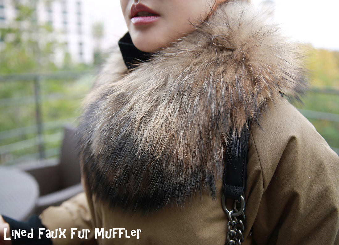Relish the soft warmth of this Lined Faux Fur Muffler. #accessories #fashion #muffler #womenfashion #winter