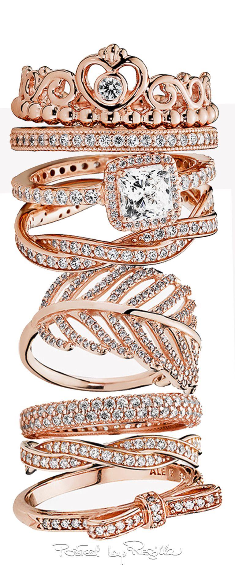 anillo de oro rosa pandora
