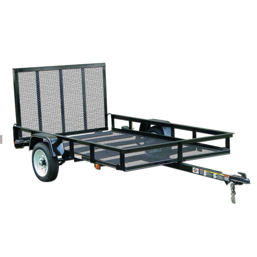 Shop Carry-On Trailer 5-ft x 8-ft Wire Mesh Utility Trailer with ...
