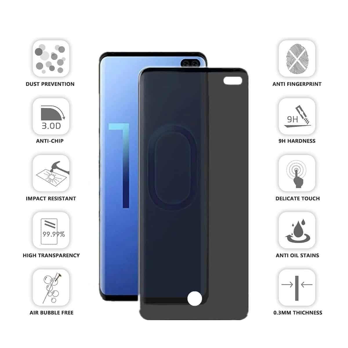 S10 Plus Privacy Screen Protector Galaxy S10 Plus Privacy Glass In 2020 Screen Protector Galaxy Samsung Galaxy