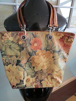 Maurizio Taiuti Leather Fl Flower Purse Handbag Made In Italy How To Make Handbags Purses