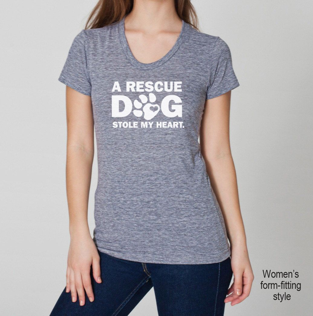 A Rescue Dog / Cat Stole My Heart Tri Blend by SevenMilesPerSecond, $22.90