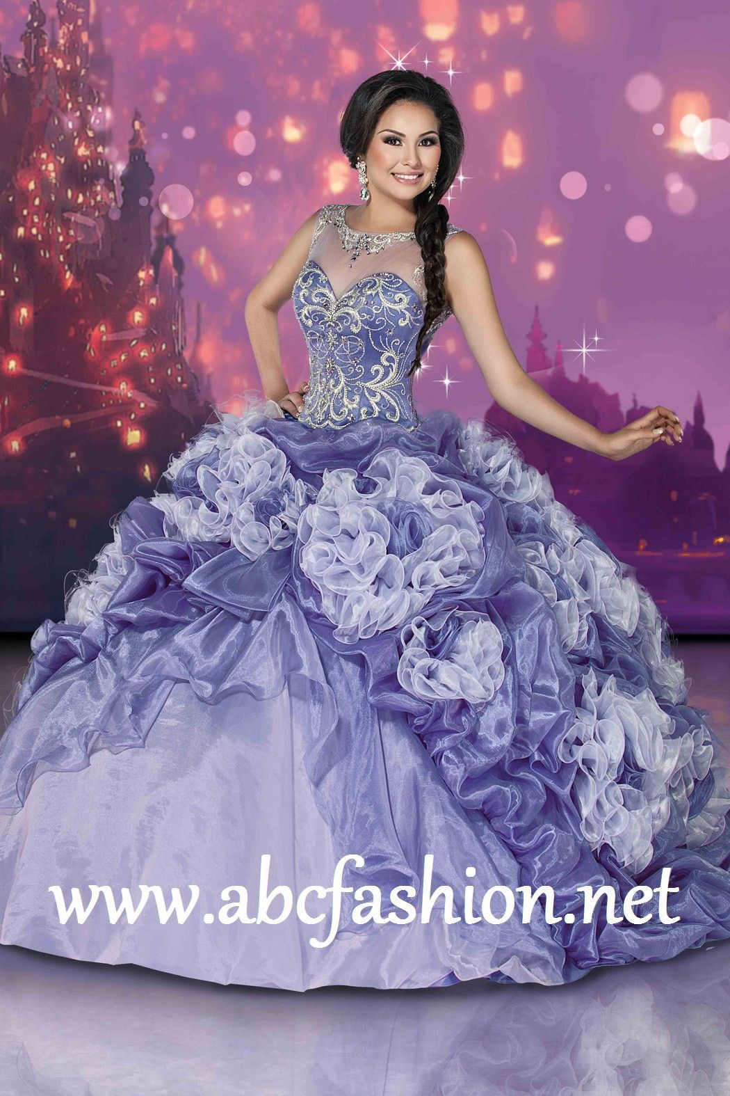 Disney Royal Ball Quinceanera Dress Rapunzel Style 41078   Pinterest ...