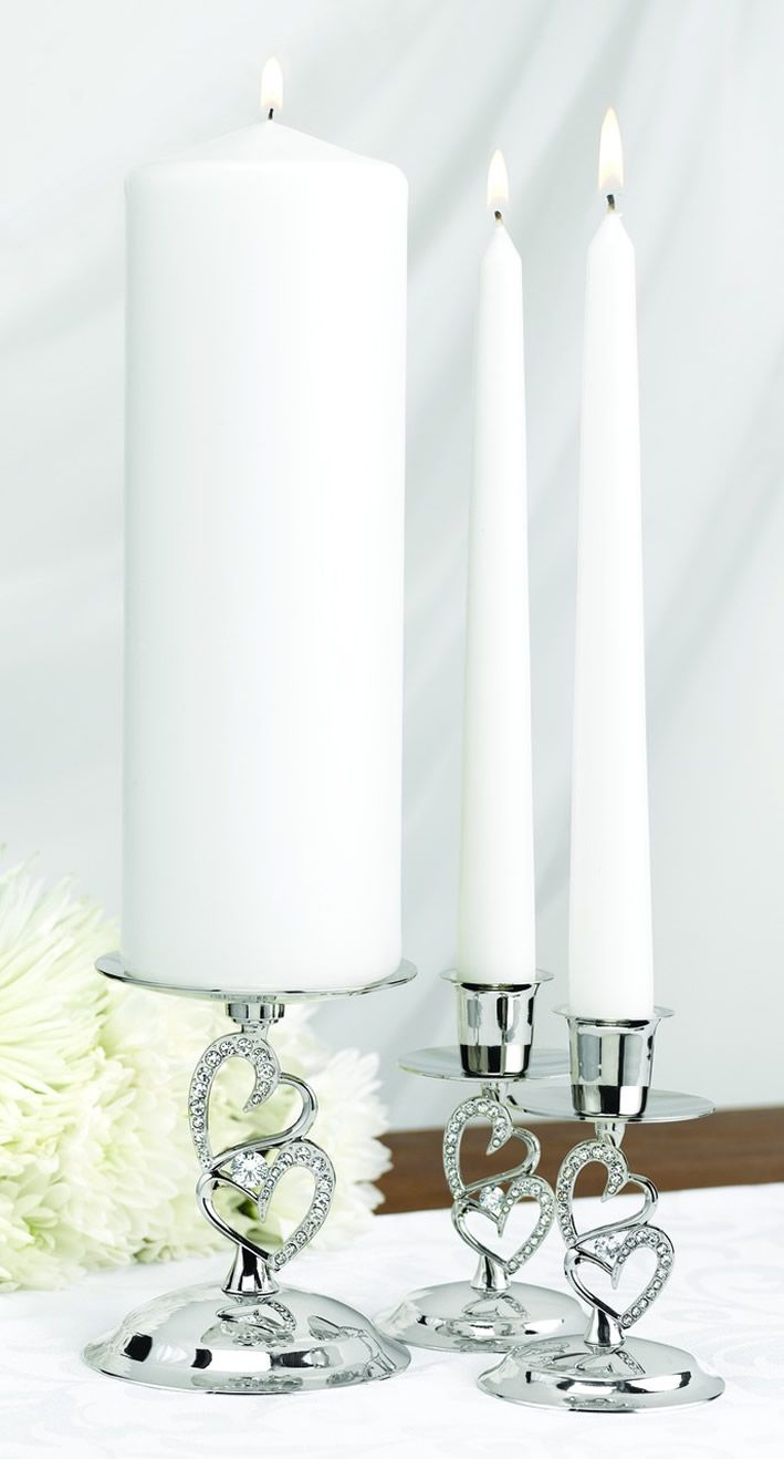 Sparkling Love Candle Stand Set