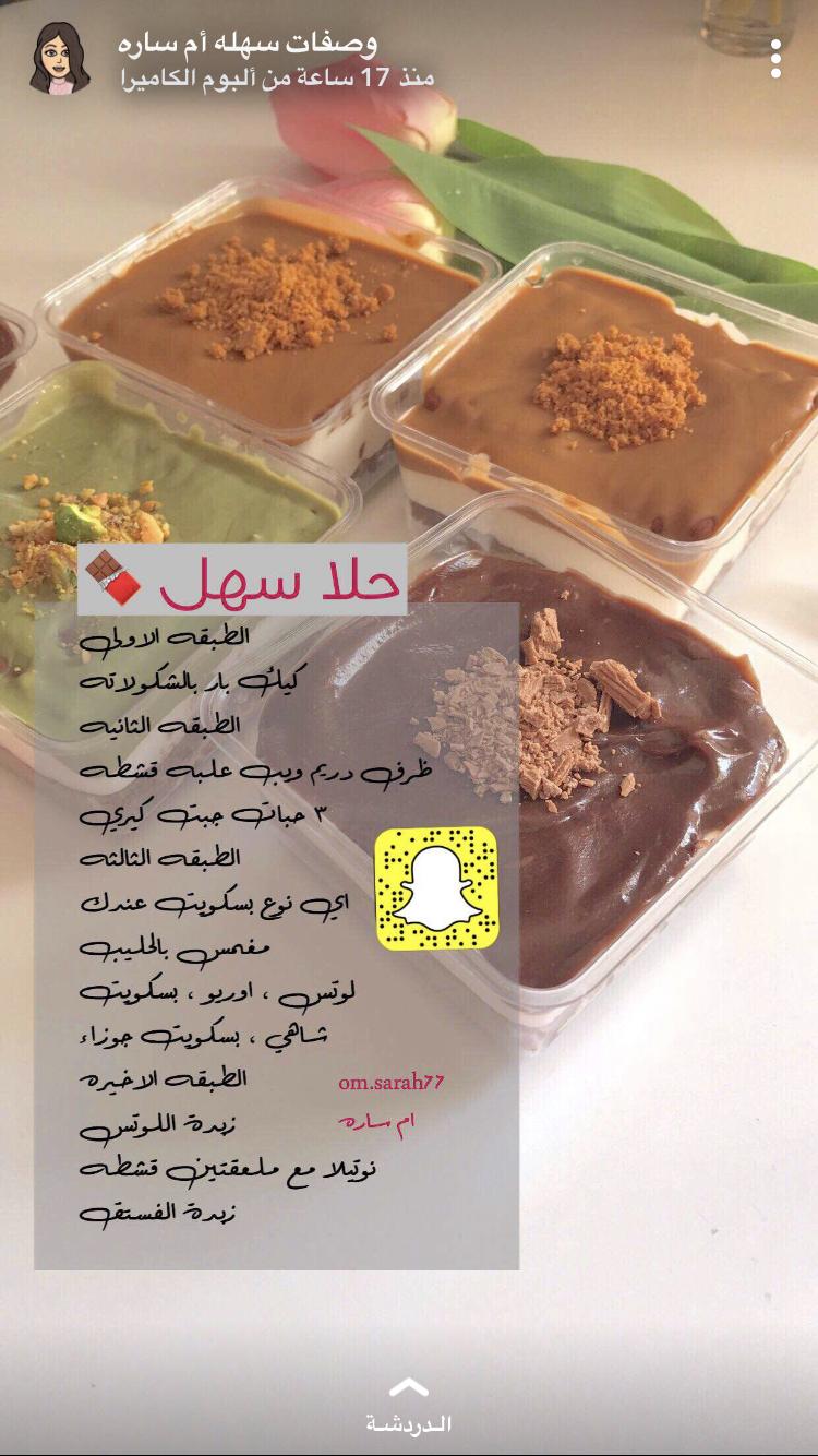 Pin By Mona Shujoon On وصفات من كل بلدان العربية Yummy Food Dessert Fun Baking Recipes Cooking Recipes Desserts
