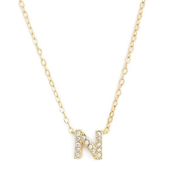 Womens nadri initial pendant necklace 45 liked on polyvore womens nadri initial pendant necklace 45 liked on polyvore featuring jewelry necklaces aloadofball Image collections