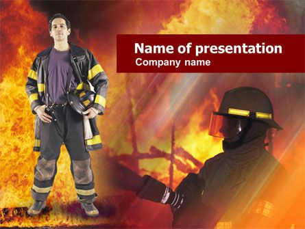 fireman free powerpoint template backgrounds 00543