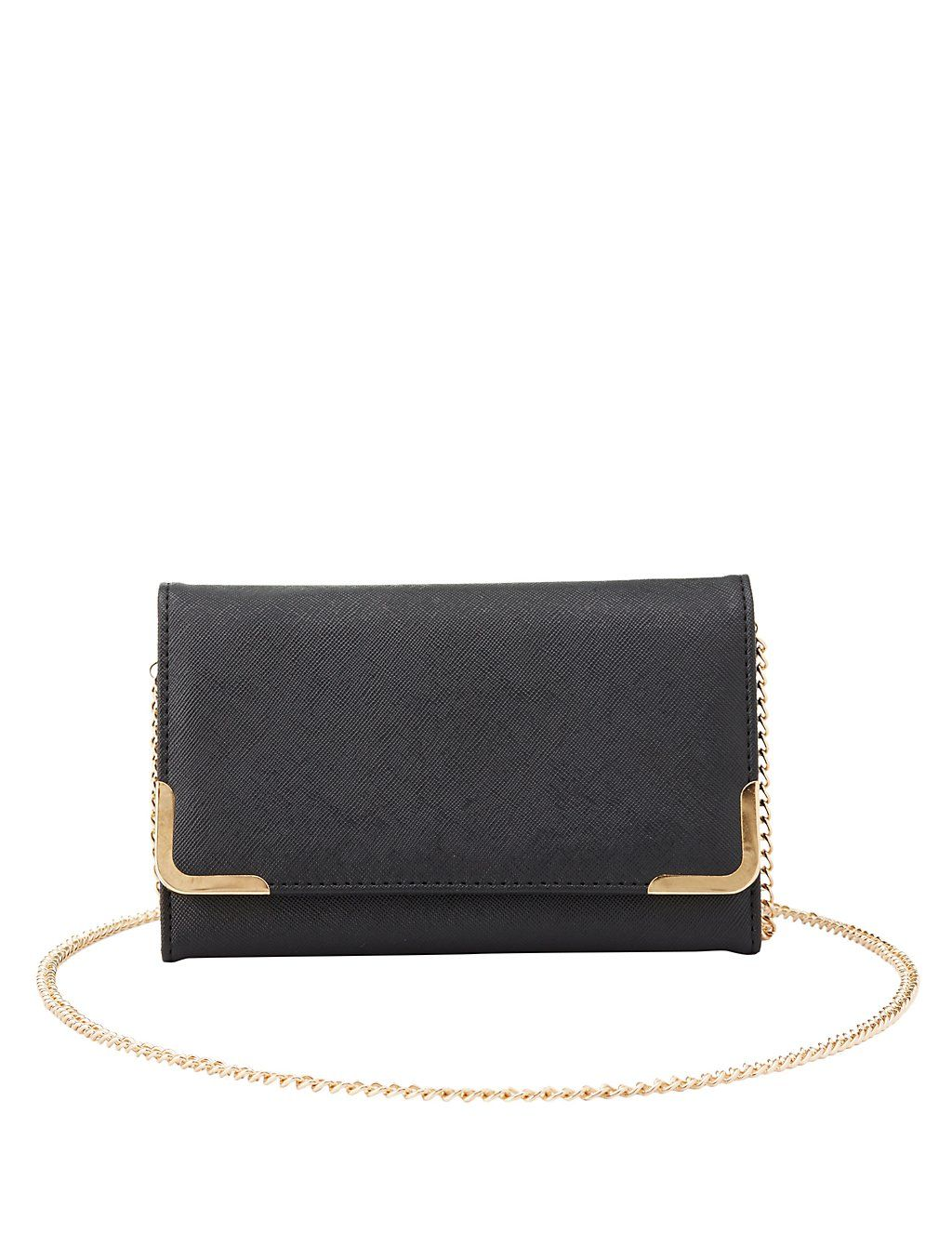 Gold-Tipped Convertible Crossbody Bag   Charlotte Russe