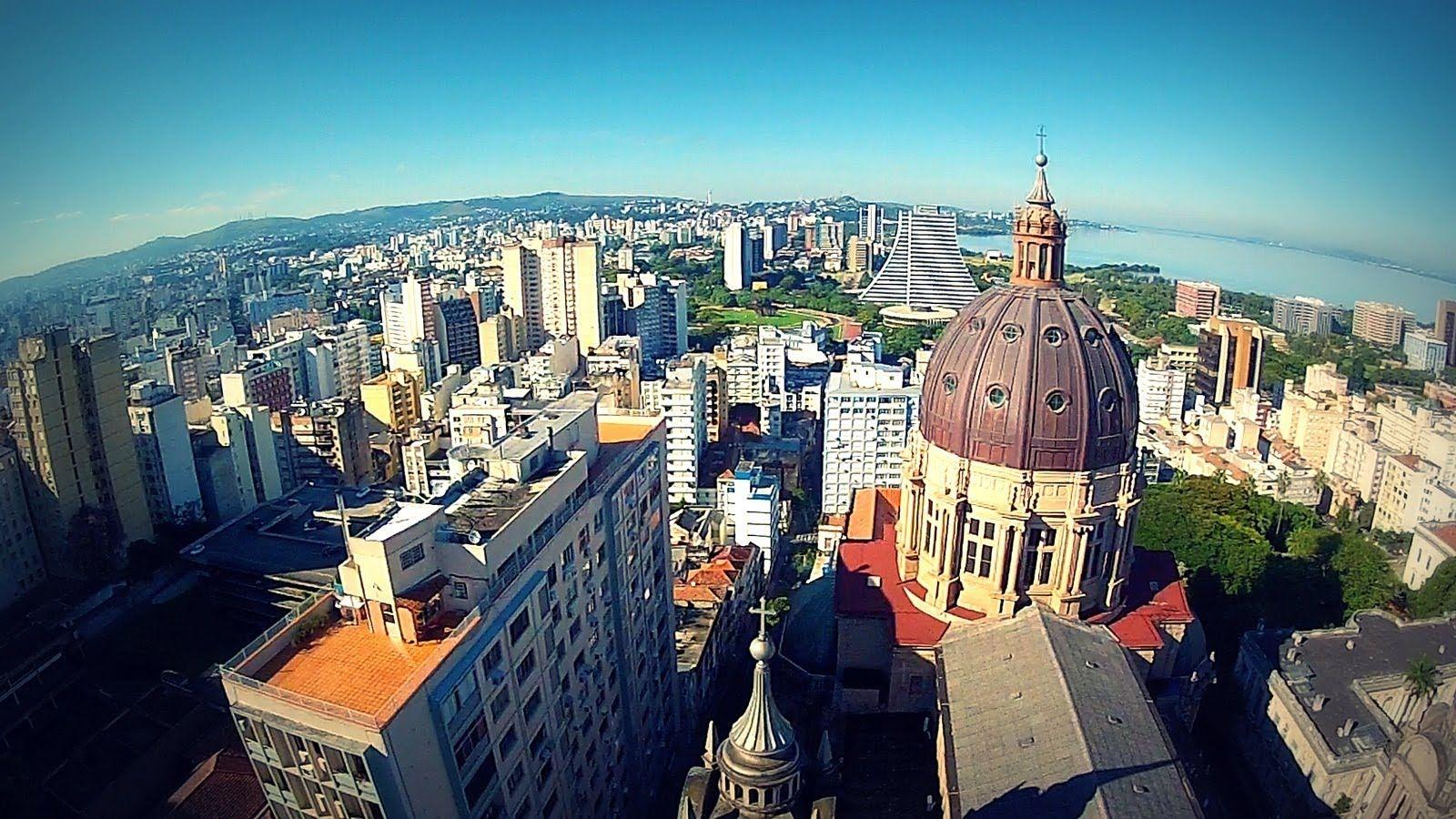 Filmagem Aerea Porto Alegre Rs Porto Alegre Brasil Cidade De Porto Alegre