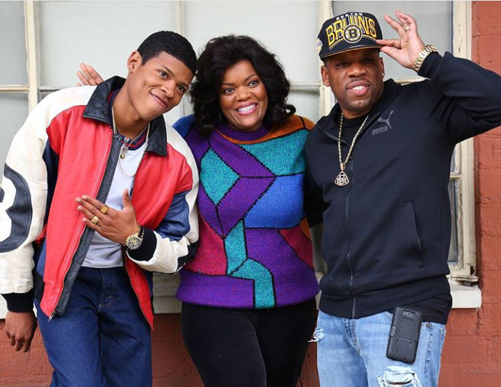 Mike Bivins With Yazz Movie Mike Bivins And The Actress Playing Mikes Mother In The Movie New Edition Bobby Brown Michael Bivins