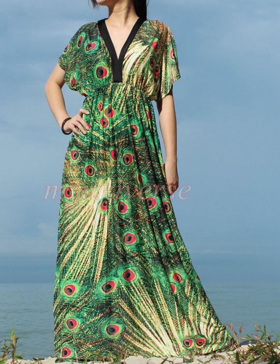 f6dcde3e5e7 Peacock Women Plus Sizes Clothing Long Maxi Dress Plus Size Dress  Bridesmaid Dress 1X 2X 3X 4X 5X