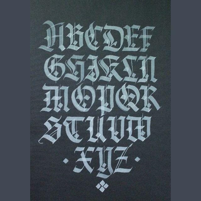 Gothic capitals alphabet andrey martynov remrk