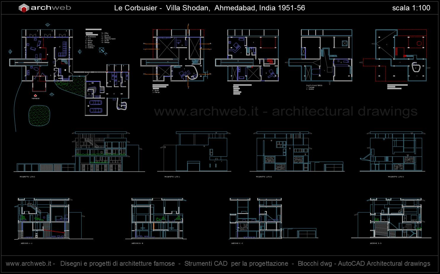 small resolution of shodan house autocad dwg