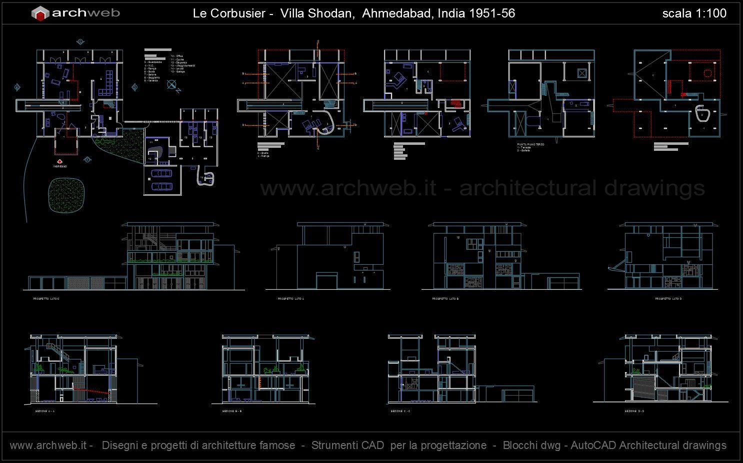Shodan House Autocad Dwg Le Corbusier Tree Rings Diagram Buildllcveneersdiagram01