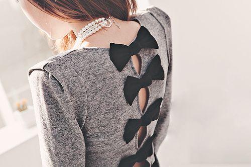 Fashion. Dress. Bows.
